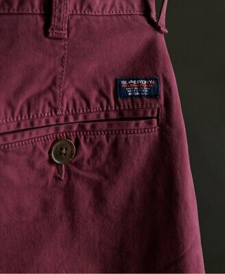 bermuda chino short burgundy