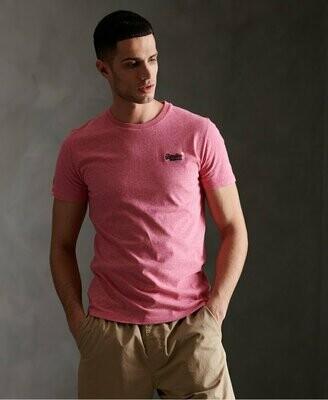 Camiseta ROSA orange label Organic Cotton Vintage Embroidery T-Shirt PINK Grit