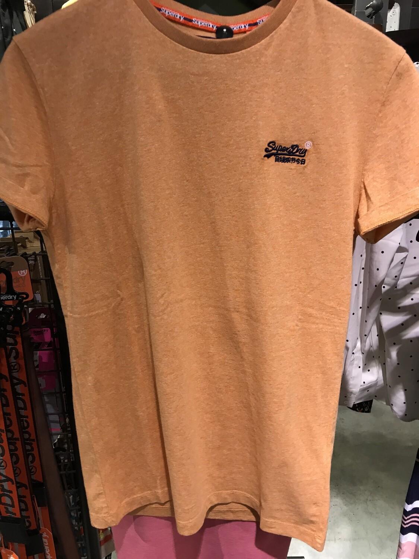 Camiseta orange label Organic Cotton Vintage Embroidery T-Shirt Coral