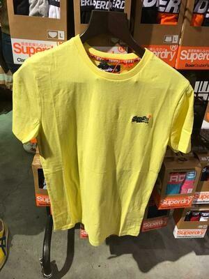 Camiseta orange label Organic Cotton Vintage Embroidery T-Shirt BRIGHT YELLOW Grit