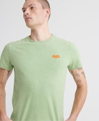 Camiseta orange label Organic Cotton Vintage Embroidery T-Shirt Shamrock Green Grit