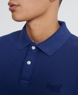 Polo Vintage Destroyed Pique supermarine navy