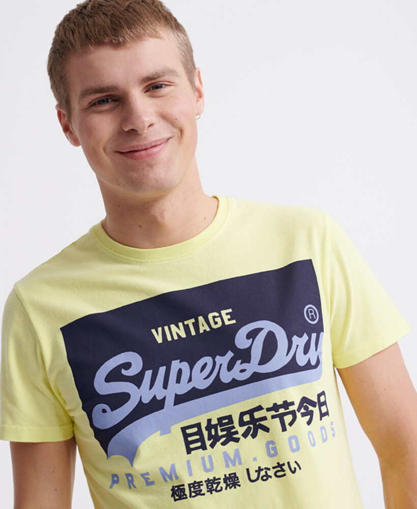 Organic Cotton Vintage Logo T-Shirt Charlock Green