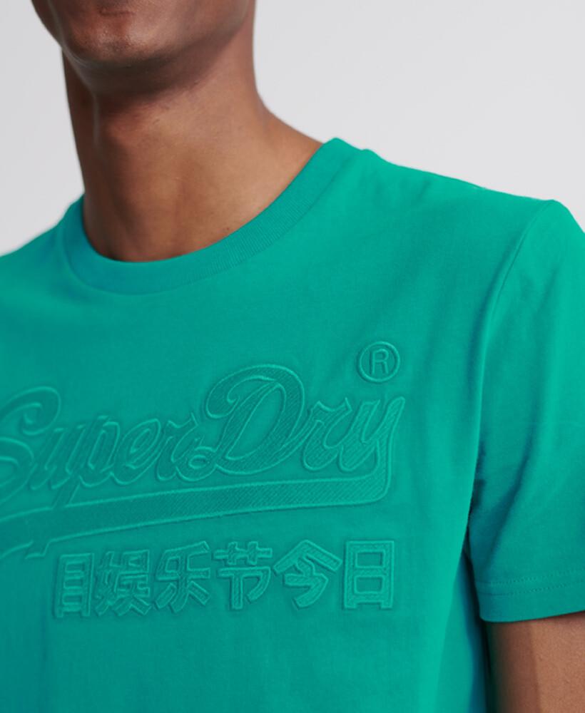 Vintage Logo Embroidered T-Shirt VL emb tee Lapis