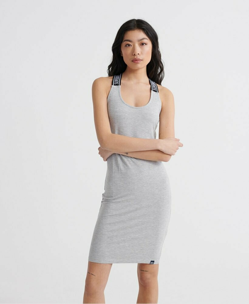 Vestido gris City Jacquard Bodycon Dress