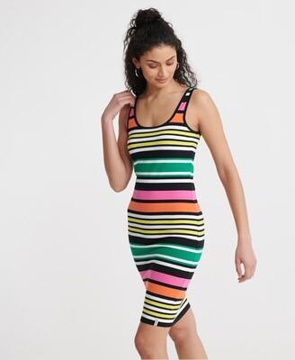 Vestido Miami Bodycon dress multi stripes