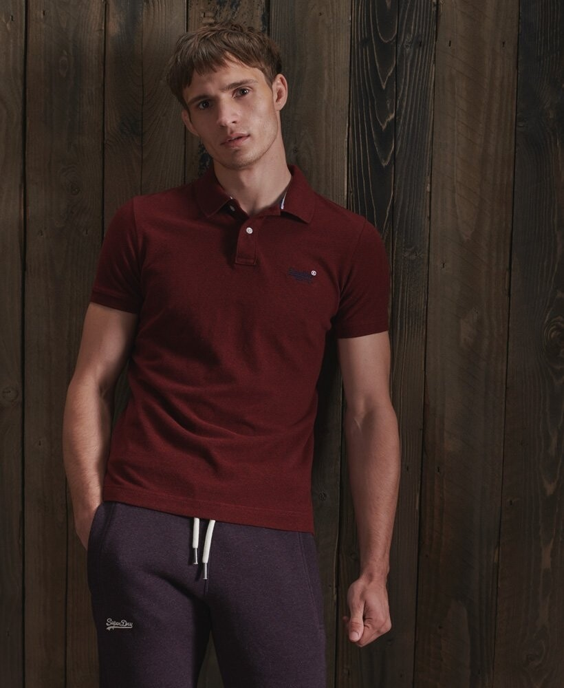 Polo classic pique Rich Red Grit