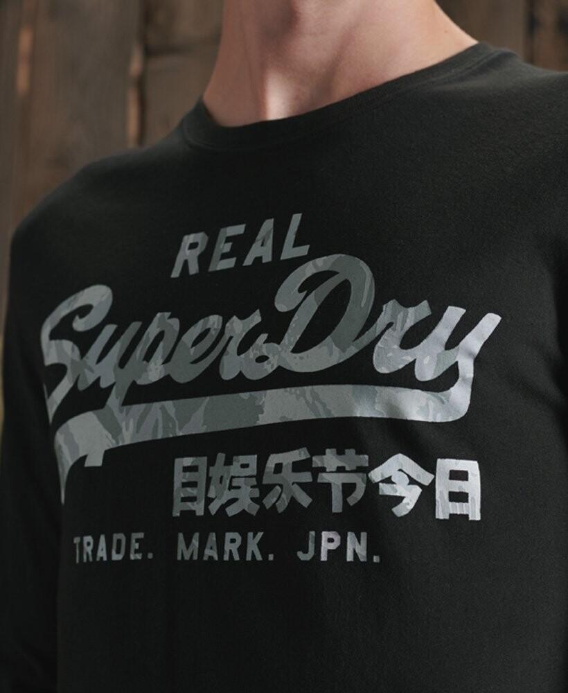Camiseta de manga larga con logo Vintage Infill