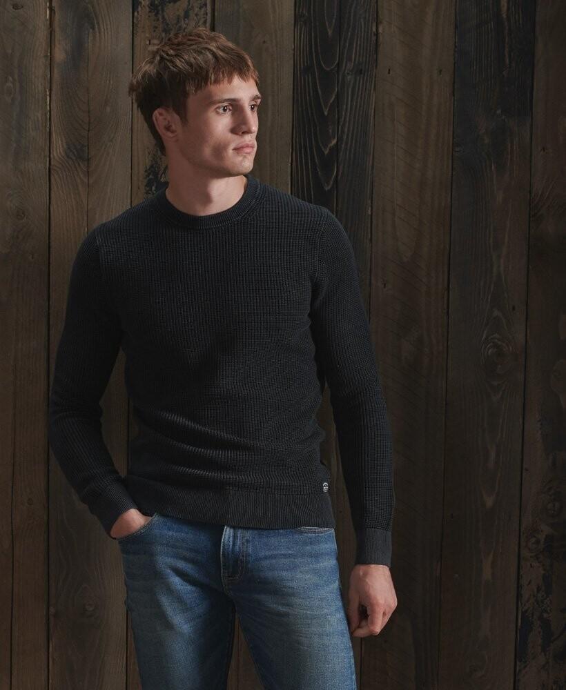 Jersey con cuello redondo y textura Academy