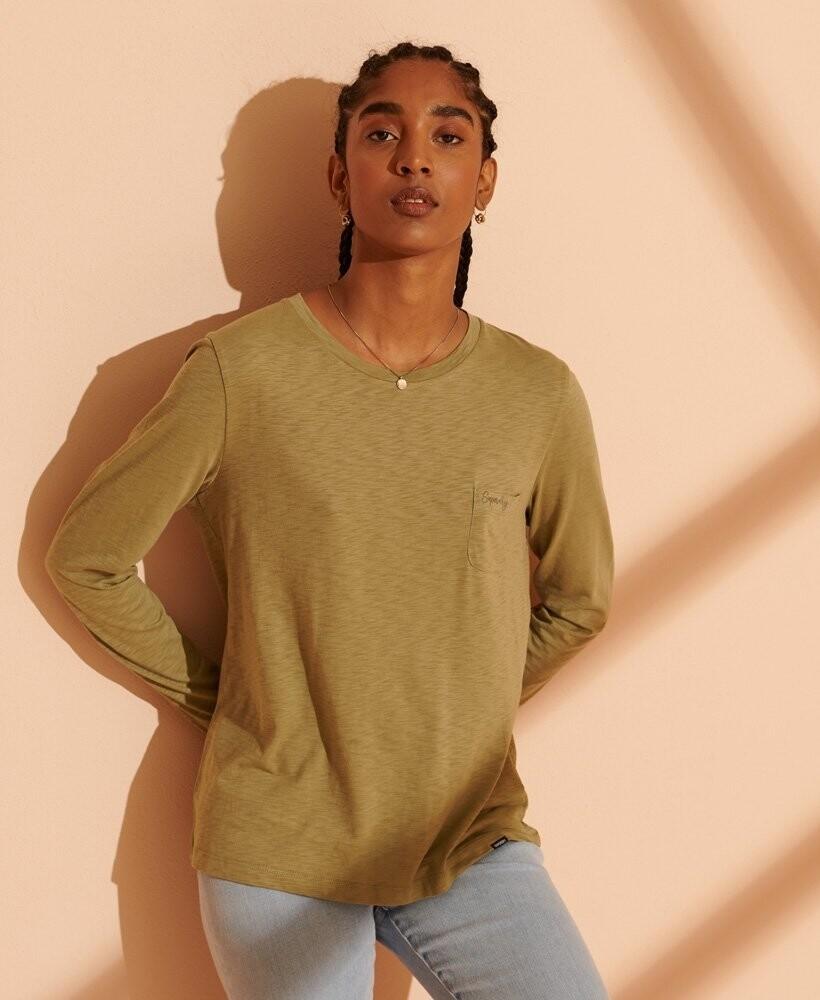 Camiseta de manga larga y cuello redondo confeccionado con algodón organico