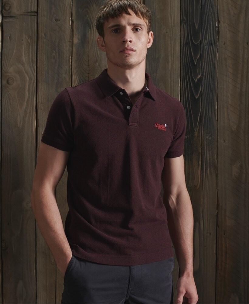 Polo classic pique Deepest Burgundy Grit