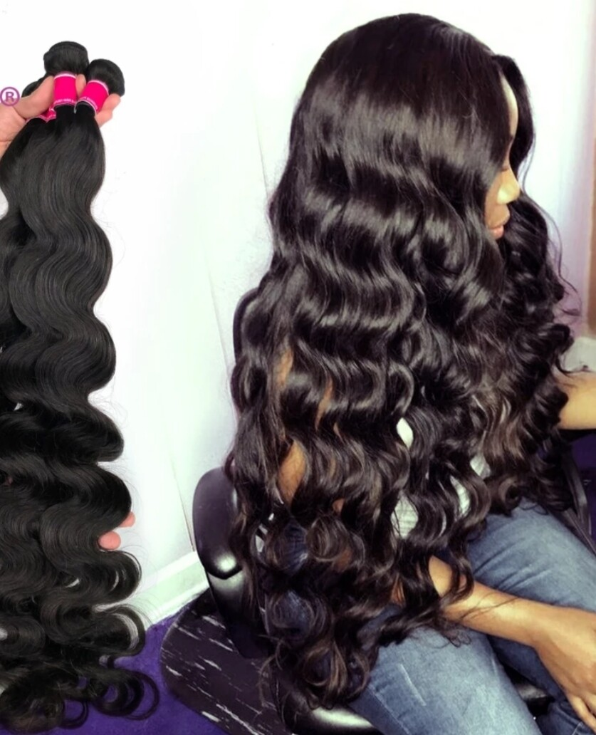 """Weft Extensions Double Drawn Brazilian 16"""" Body Wave"""