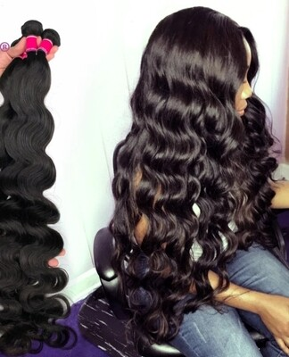"""Weft Extensions Double Drawn Remy Body Wave 16"""""""
