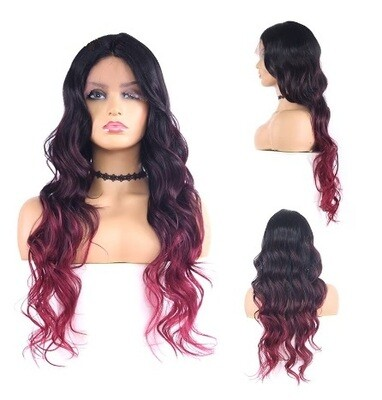 Burgundy Ombre Lace Front