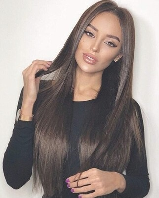 Chocolate Brown Silky Straight Lace Front