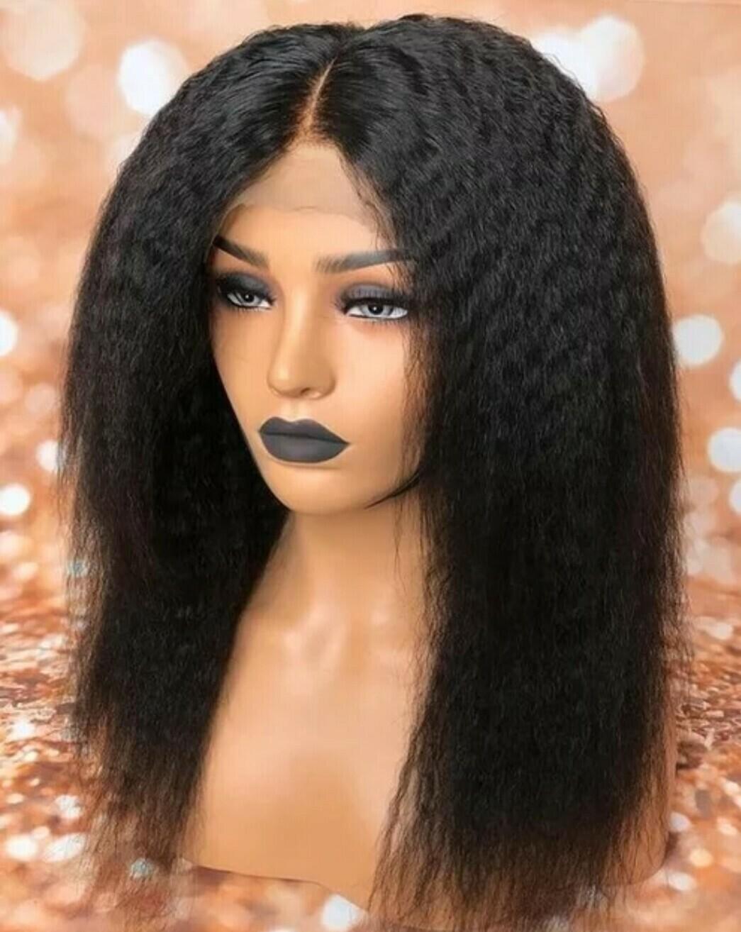 Kinky Human Hair 360 Lace Pre Plucked Hair