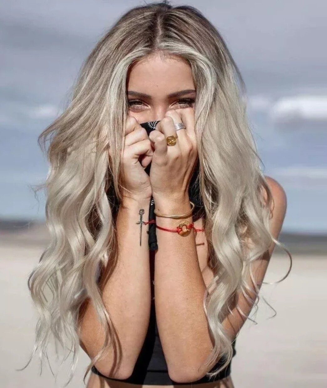 Peachy Blonde Ombre Beachy Wave