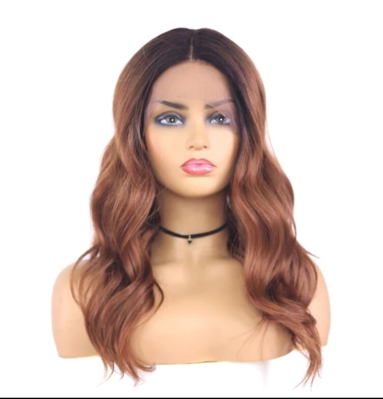 Copper Blonde Beachy Wave Lace Front with Pre Plucked hair