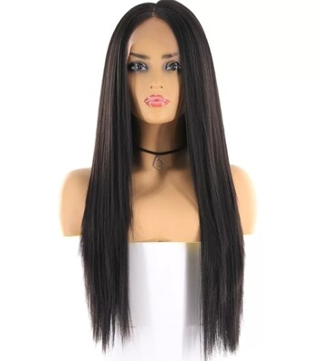 Natural Black Straight Lace Front