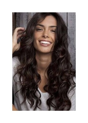 Dark Brown Highlights Lace Part with Fringe