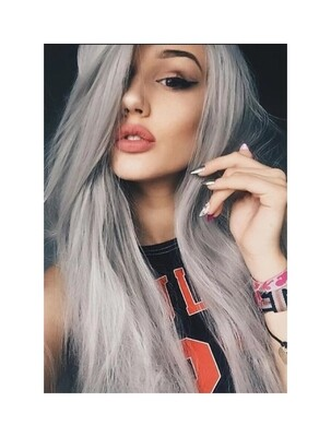 Silver Grey Ombre Straight