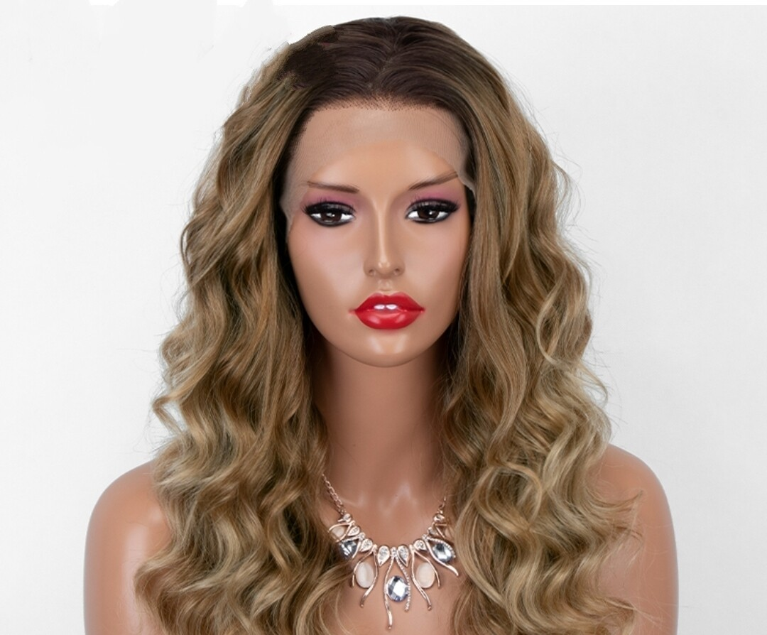 Blonde Ombre Wavy Lace Front