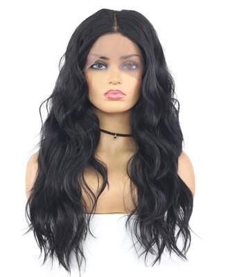 Natural Black Wavy Lace Side Part