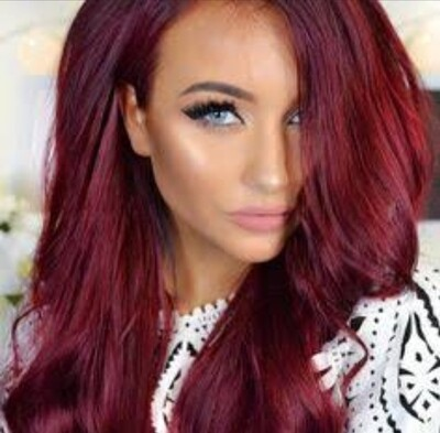 Burgundy to Pink Balayage Lace Front