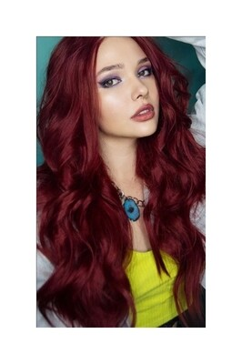 Red Ombre Beachy Wave