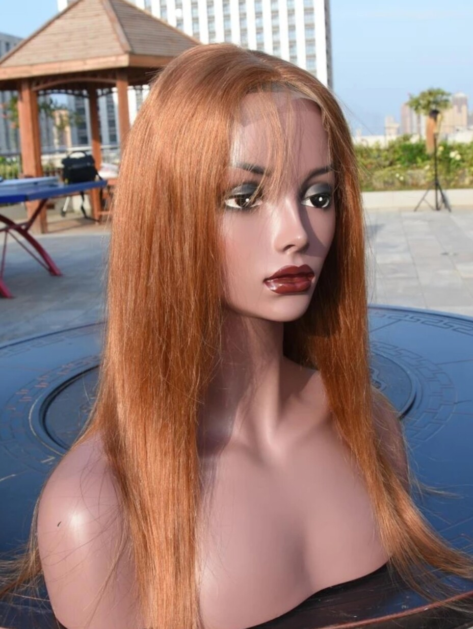 Caramel Human Hair Lace Front Pre Plucked Hair