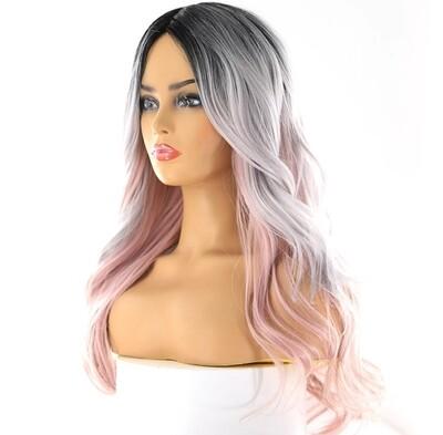 Silver to Soft Pink Balayage Lace Part