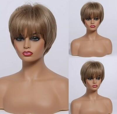 Honey Blonde Pixie Cut