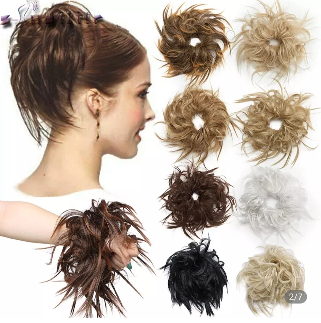 Hair Bun - Messy with Elastic