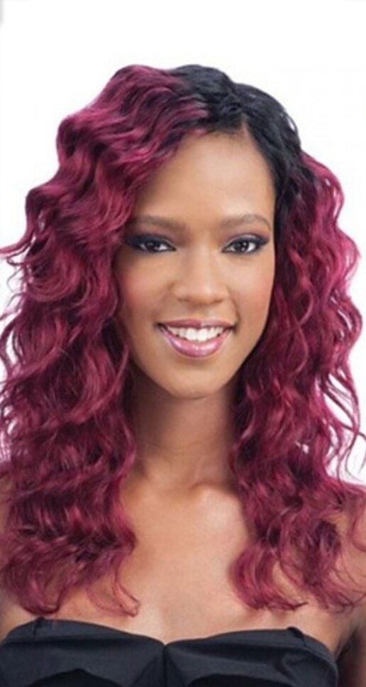 Light Purple Ombre Body Wave Human Hair Side Part Lace Front