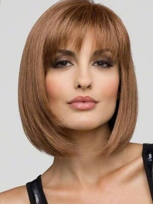 Honey Brown Ombre Bob with Fringe