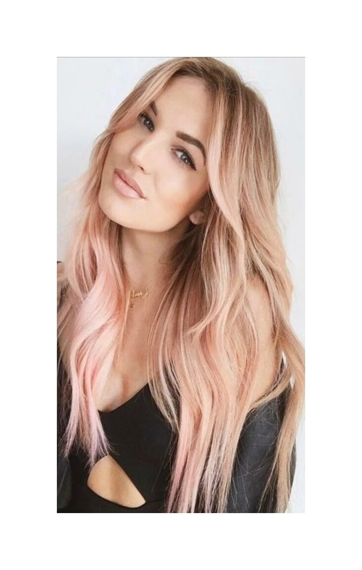 Pink Ombre Beachy Wave