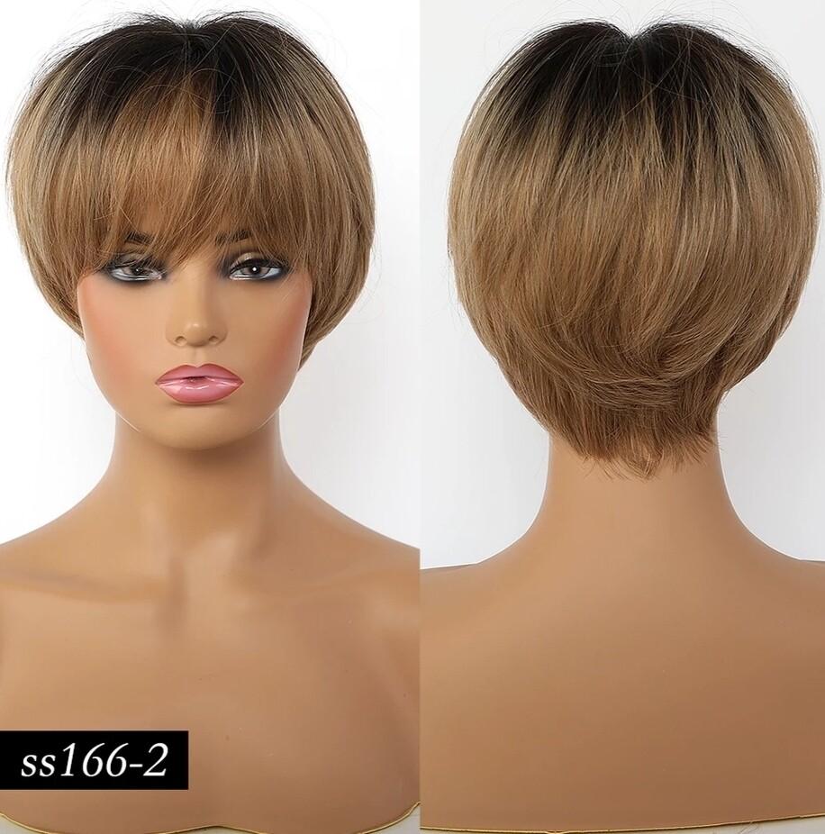 Dark Blonde Ombre Pixie Cut