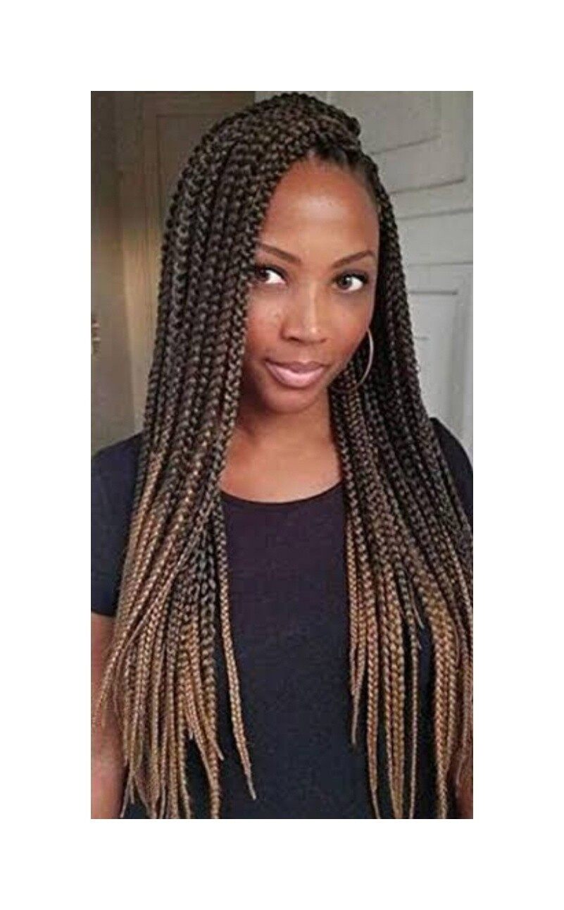 Honey Brown Crochet Braided Senegalese Twists Lace Front with Pre Plucked Hair