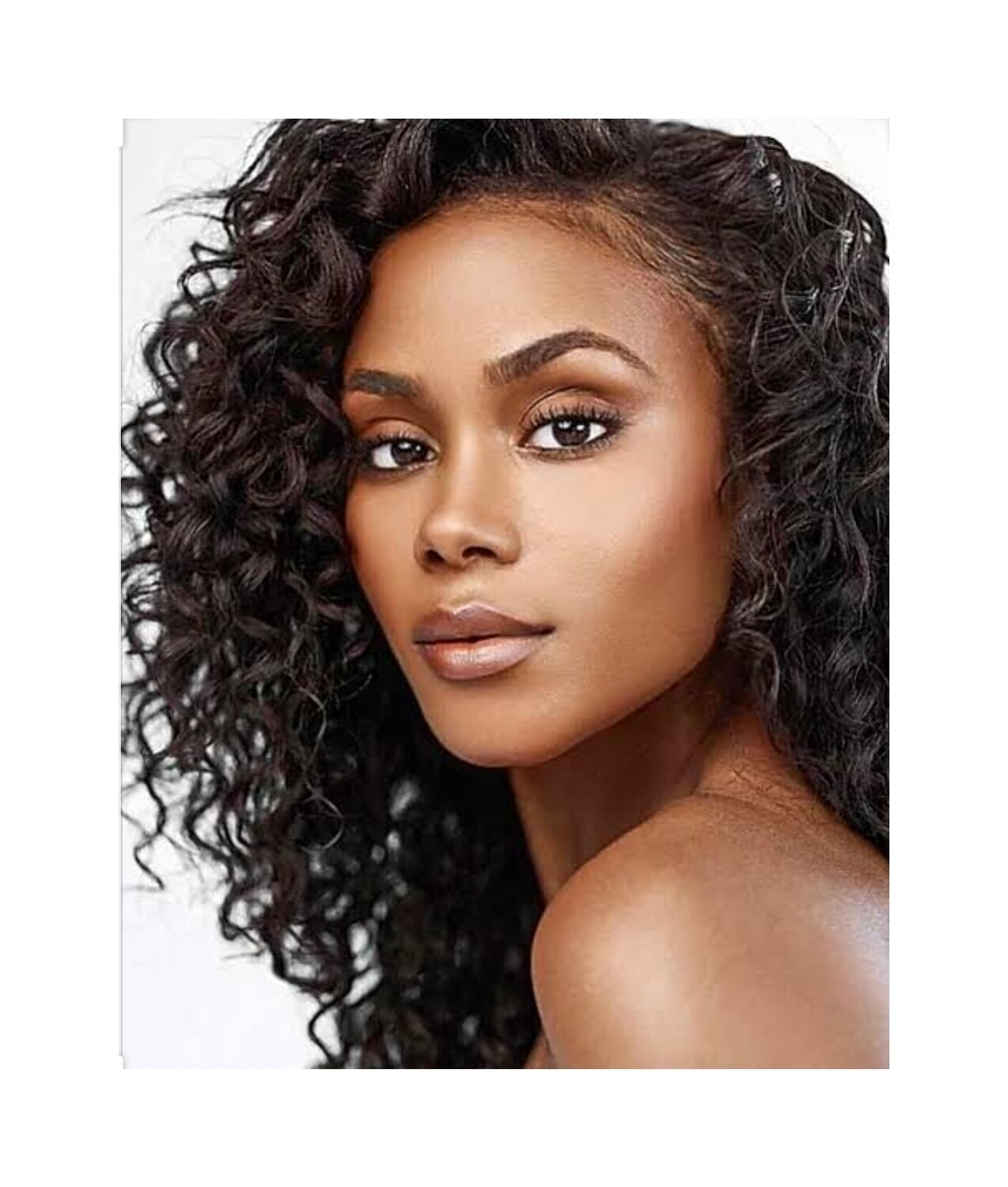 Black Deep Wave Lace Front Pre Plucked Hair