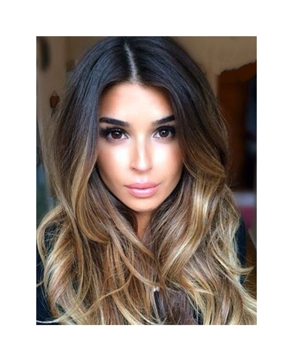 Balayage Brown to Gold Wavy Lace Front