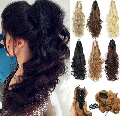 """Ponytails Clip In Claw Body Wave 24"""""""