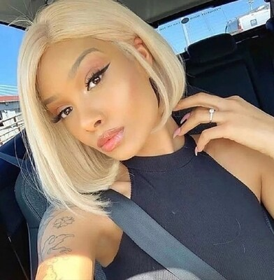 Light Blonde Human Hair Lace Front Bob