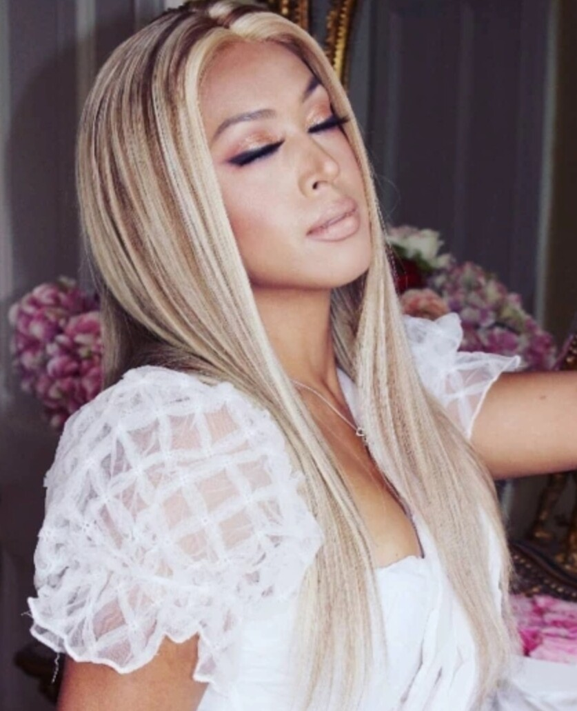Ash Blonde Highlights Human Hair U Part Lace Front