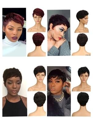 Wavy Human Hair Pixie Cut