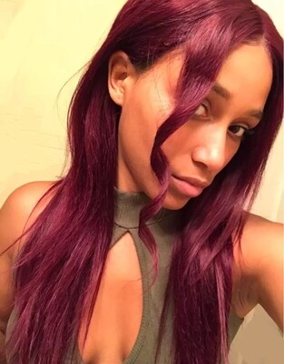 Burgundy Human Hair Lace Front 4x4