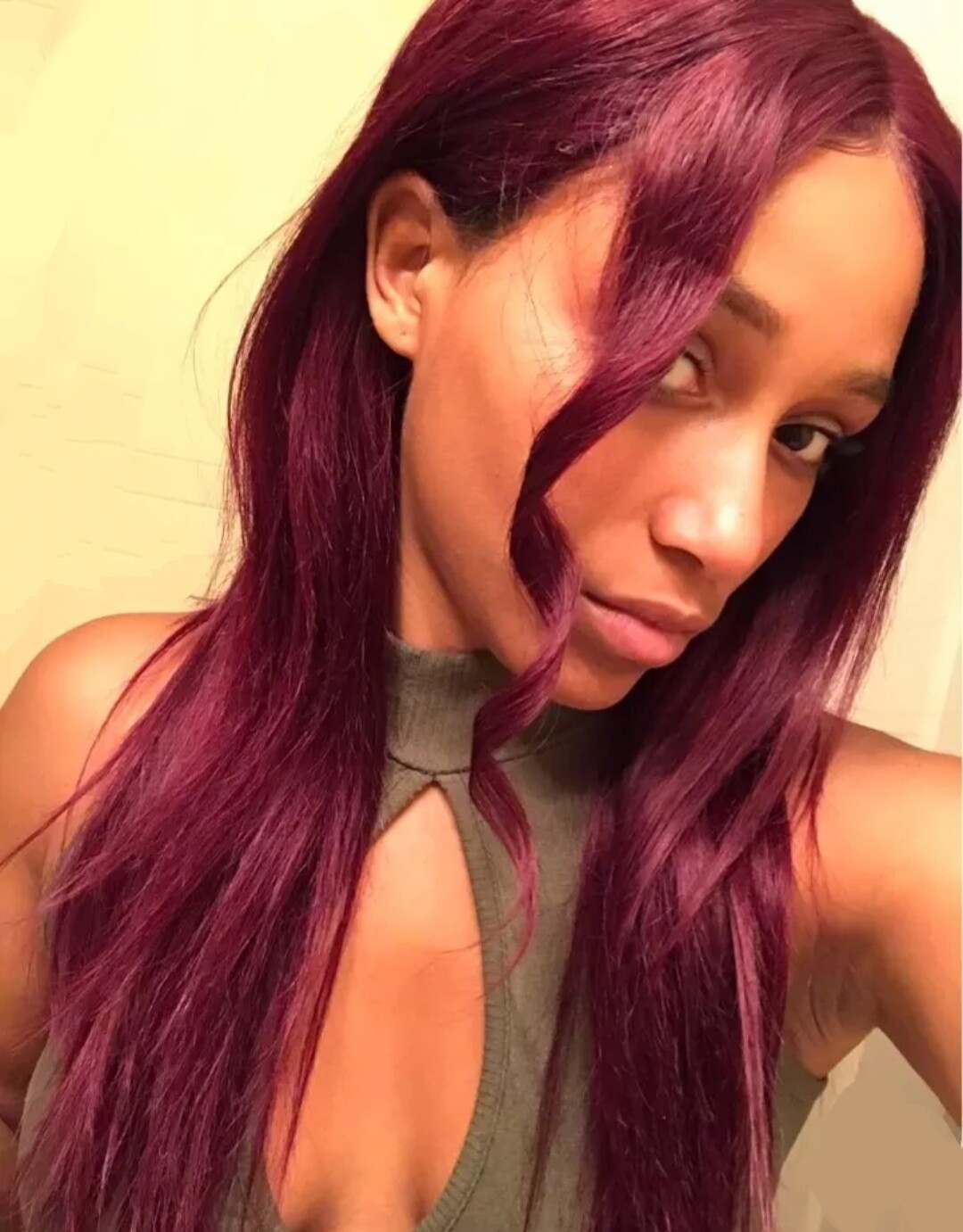 Burgundy Human Hair Lace Front