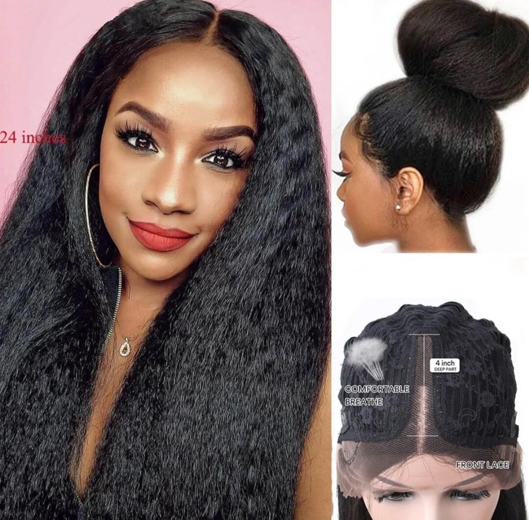 Kinky Straight Human Hair Lace Part