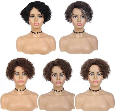 Curly Human Hair Pixie Cut