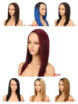 Various Colours Side Part Human Hair Lace Fronts
