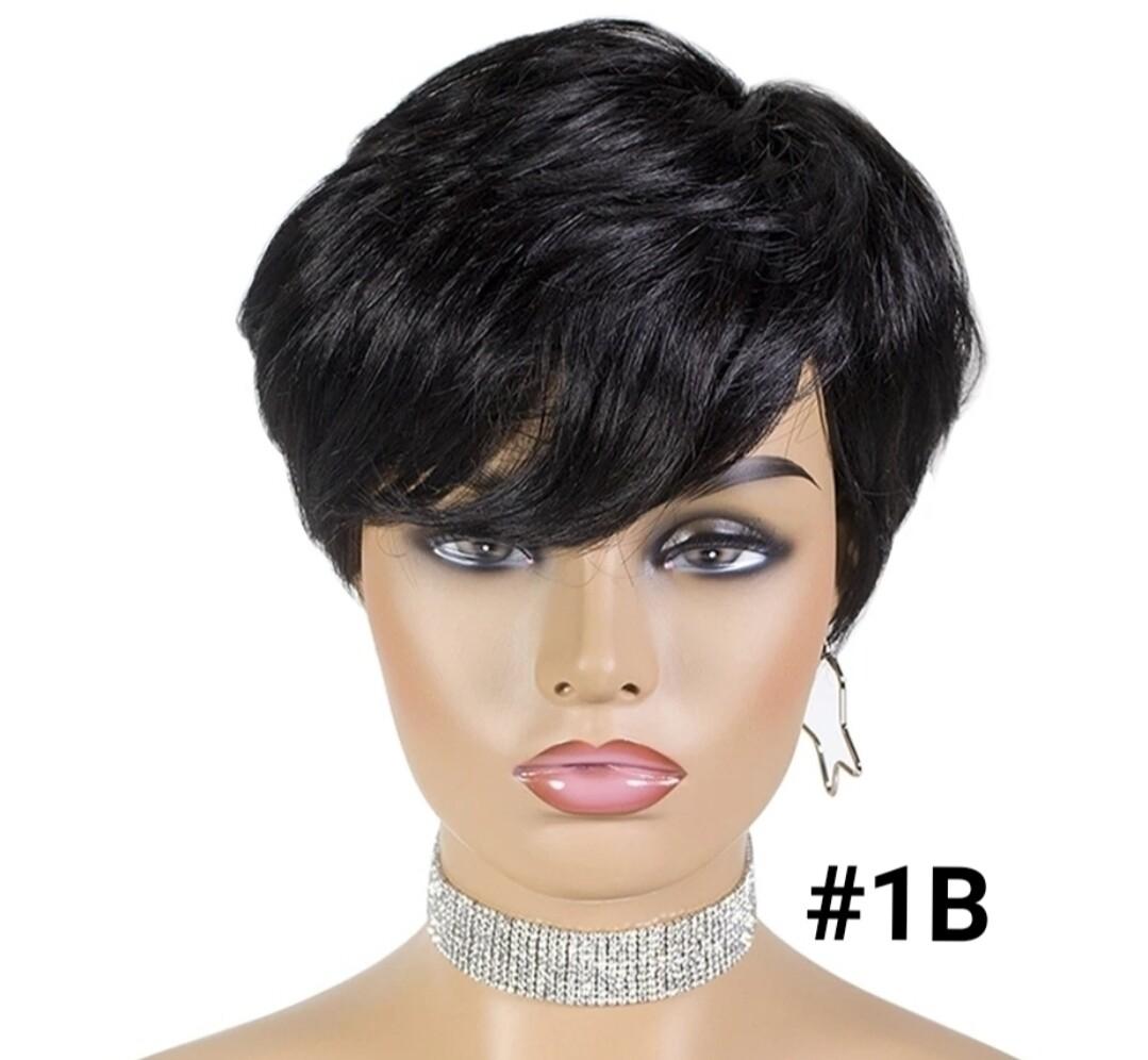 Straight Human Hair Pixie Cut